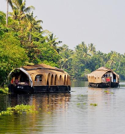 Sillonner les canaux du Kerala - Inde