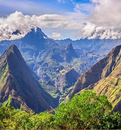 Survoler les cirques de La Réunion
