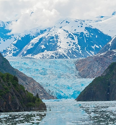 Der atemberaubende Sawyer-Gletscher