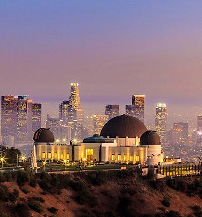 Admirer la vue de Los Angeles depuis son observatoire - Californie