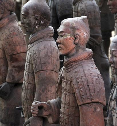 Se confronter à l'armée de terre cuite de Xi'an - Chine