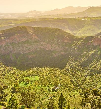 Randonner sur le cratère de Bandama, île de Gran Canaria