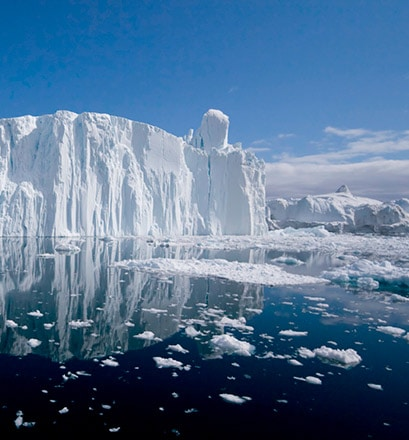 Admire the biggest icebergs in the world