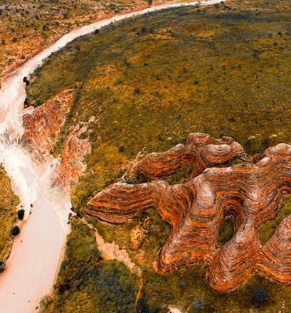 Survoler la chaîne des Bungle Bungle - Kimberley, Australie