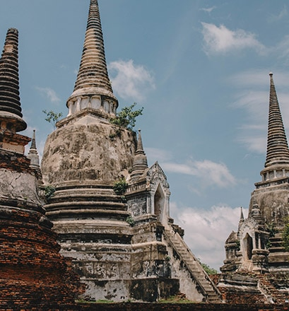 Se promener à Ayutthaya - Thaïlande