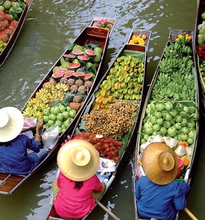 Se laisser surprendre par les marchés thaïlandais