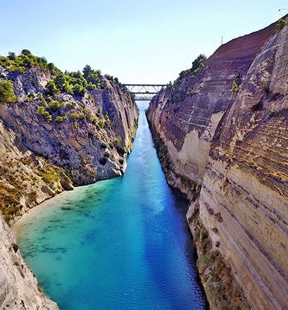 Sail through the Corinth Canal