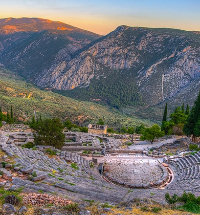 Wander the sacred ruins of Delphi