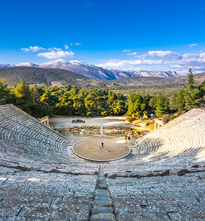 Test the acoustics of the Theatre of Epidaurus
