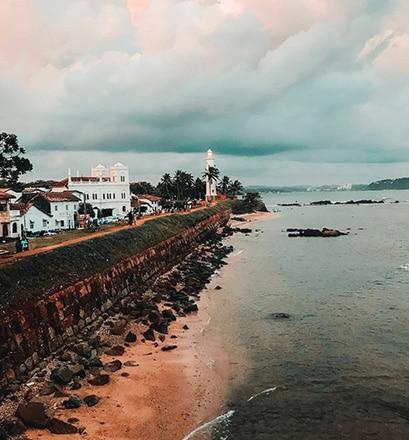 Se promener dans Galle, ancien port colonial - Sri Lanka
