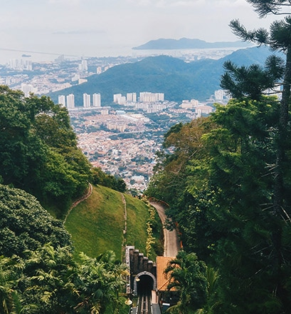 Explore the natural and urban landscape of George Town, Penang - Malaysia