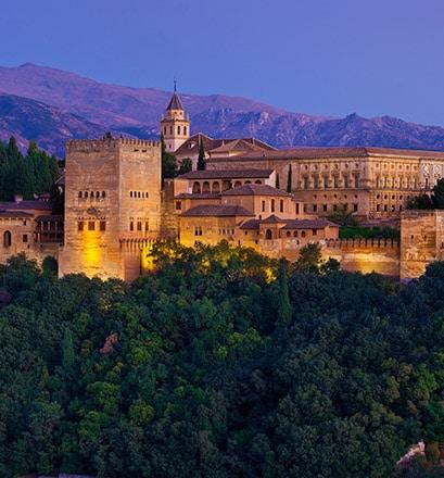 Pénétrer les secrets de l'Alhambra de nuit - Espagne
