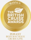 Best Boutique Cruise Line: awarded at the British Cruise Awards in 2018